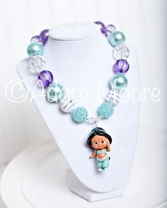 Jasmine Necklace Disney Kids Necklace Chunky by AdoreMooreBoutique, $22.00