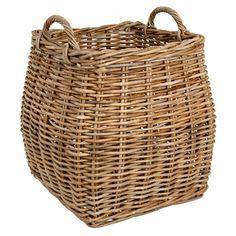 John Lewis Garden Trading Tapered Rattan Log Basket