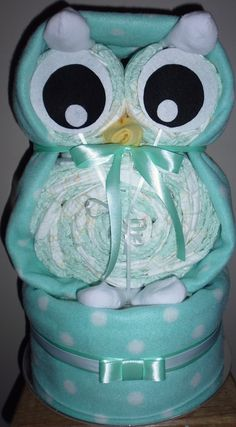 Owl Nappy cake. Bloomin'Lovely.