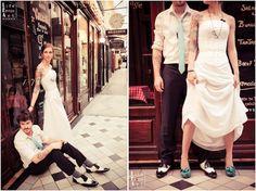 Mariages Rétro: Trash the dress