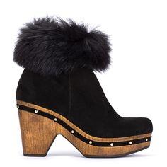 #zapatos #botín #plataforma de la nueva colección #AW de #pedromiralles en color #negro #shoponline