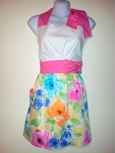 Full Apron  Easter Brunch   Bright Garden by ChicChefBoutique, $35.00