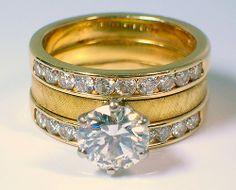 Mid-Century Diamond Wedding Ring