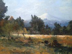 Volcán Villarrica - Chile  Pintor Helmut Lemp  ( helepe )...