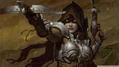 Video Game Art Diablo 3 Demon Hunter by Gerald Brom Comic Art Fantasy Warrior, Fantasy Rpg, Dark Fantasy Art, Fantasy Girl, Fantasy Artwork, Warrior Angel, Fantasy Images, Art Goth, Dark Sun
