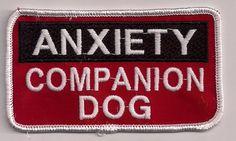 ANXIETY COMPANION DOG service dog vest patch 2x4 | eBay