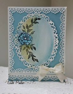 layout using border around Spellbinders Floral Oval