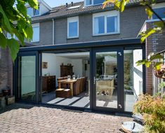 Garden Room Extensions, House Extensions, Lean To Conservatory, Double Glass Doors, Glass Extension, Windows And Doors, Bungalow, Living Spaces, Sweet Home