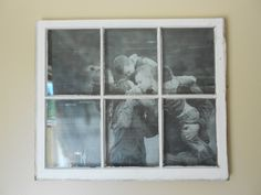 old window crafts | Junkin' Crafts: Old Window Turned Picture Frame