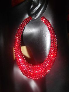 Great Christmas Crystal Earrings!!  Rings to match!!