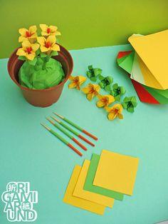 Work in progress origami flowers compilation part II.