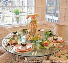 Lovely table setting from Ina Garten\'s house | TableScapes...Table ...