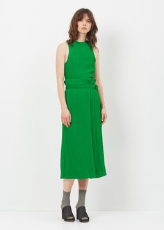Protagonist  Pleated Wrap Skirt (Kelly Green)