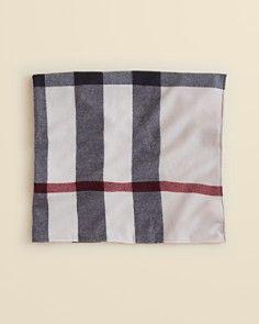 "Burberry Infant Unisex Merino Wool Blanket - 36"" x 34"""