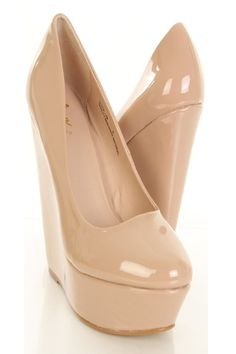 Its a Nude Wedge and no bra party!
