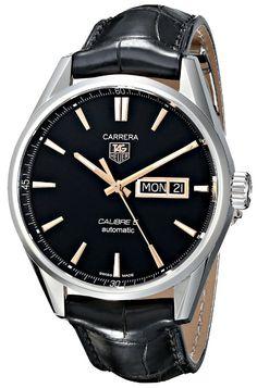 TAG Heuer Men's watches THWAR201CFC6266 Carrera Analog Display Swiss Automatic Black Watch