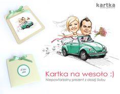 Zaproszenia ślubne z karykaturą