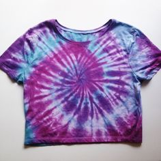 Tie Dye Rave Crop Top Shirt Pink Purple Tye Dye Cropped Top Tumblr... ($25) ❤ liked on Polyvore featuring tops, black, t-shirts, women's clothing, long tops, purple top, black top, long shirts and pink tie dye shirts