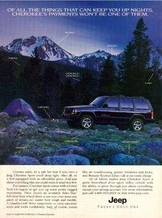 1999 Jeep Cherokee ad