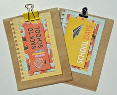 Back to School Gift Bags made with DCWV's The Homeroom Stack
