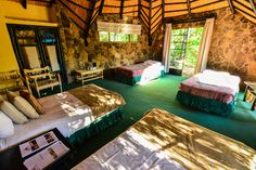 Internal view of the chalet at Matobo Hills Lodge