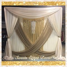 wedding draping decor by sweets event decor tent draping fabric draping fabric backdrop - Wedding Backdrop Tulle Draping Tent Fabric, Fabric Backdrop, Flower Backdrop, Wedding Draping, Wedding Canopy, Backdrop Wedding, Decoration Buffet, Diy Canopy, Ikea Canopy