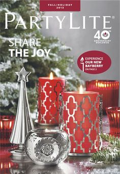 Fall Holiday 2013 #PartyLite Catalog. Shop online or at  at Party!