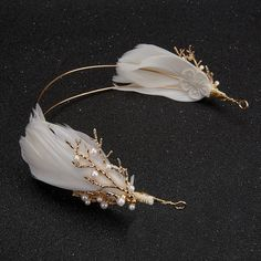 Gold Vintage Baroque Headband Branch Wedding Feather Headpiece Bridal Hair Jewelry Hairbands Pearl Tiara Women Boho Accessories, bridal - The Effective Pictures We Offer You About turquoise jewelry A quality picture can tell you many th - Hair Jewelry, Bridal Jewelry, Women Jewelry, Headpiece Jewelry, Gold Jewellery, Bride Hair Accessories, Boho Accessories, Vintage Wedding Hair Accessories, Bridal Headpieces