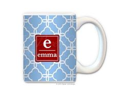 Baby Blue/Red Lace Coffee Mug from Paper Concierge