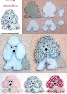 Animal Beading Pattern: TOY POODLE Delica Beaded Dog Pin