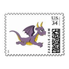 Purple dragon cartoon Stamp