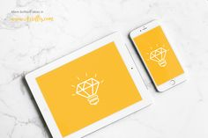 Free iPhone and iPad mockup on Behance