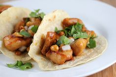 kung pao tacos -- be sure to use Ortega salsa in this fusion recipe - ortega.com #delicious #mexover #fusionfood