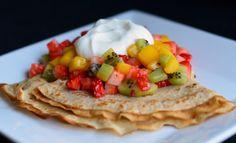 Pannekake med fruktsalsa (Bakekona)