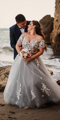 33 Plus-Size Wedding Dresses: A Jaw-Dropping Guide Plus-Size Wedding Dresses: A Jaw-Dropping Guide ★ plus size wedding dresses off the shoulder lace blue cocomelody. wedding dresses casual 33 Plus-Size Wedding Dresses: A Jaw-Dropping Guide Dresses Elegant, Plus Size Wedding Gowns, Country Wedding Dresses, Modest Wedding Dresses, Wedding Bridesmaid Dresses, Bridal Dresses, Colorful Wedding Dresses, Plus Size Brides, Elegant Gown
