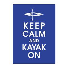 kayaking...