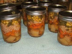 Canning Granny: Grab 'N' Go Canned Soup Part 3: Layered Chicken Veggie Soup