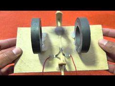 Motor Eléctrico Casero de Corriente Continua - YouTube