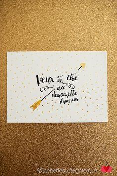 Carte de demande Demoiselle d'honneur - La Chérie