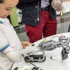 · ABC News · 11 February: A prosthetic arm made of Lego, which children can customise to their own needs, wins the grand prize at a digital technology forum in Paris. Technology Design, Digital Technology, New Technology, Computer Headphones, Alexa Skills, Dolby Atmos, Alexa Voice, Data Transmission, Tv Episodes