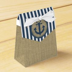 Nautical Stripes and Anchor Party Favour Boxes