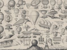 Illustrated Airships Dirigible Zeppelin Blimp Balloon Steam Hot Air Print for sale online Zeppelin, Arte Steampunk, Steampunk Airship, Steampunk House, Fine Art Prints, Framed Prints, Canvas Prints, Machine Volante, Gravure Illustration