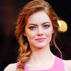 How to Get Emma Stone's Textured Braid - Emma Stone Met Gala 2014 Braid - Harper's BAZAAR Magazine