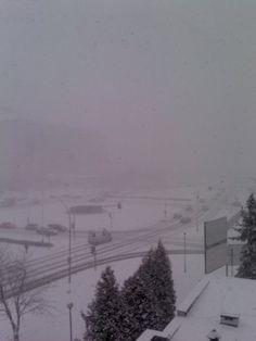 Malutka śnieżyca nad Rzeszowem. Oj ta zima.