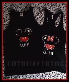 His/Hers Couples Disney Inspired Tank Tops by TotulleeTutus