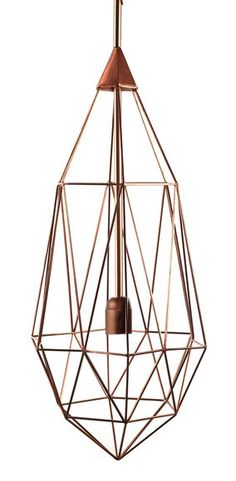 Suspension Diamant L / H 79 cm Cuivre / Large - H 79 cm - Pols Potten - Décoration et mobilier design avec Made in Design
