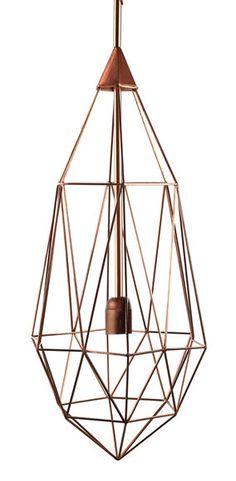 Suspension Diamant L / H 79 cm Cuivre / Large - H 79 cm - Pols Potten - Décoration et mobilier design avec Made in Design