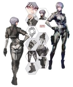 "playfirstassault: ""  Check out the Concept Artwork of Motoko! """