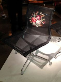 Rossana Orlandi, embroidered Eames chair - Milan