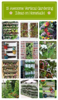 15 awesome vertical garden ideas on Hometalk! www.hometalk.com/...